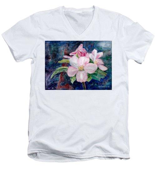 Apple Blossom - Painting Men's V-Neck T-Shirt