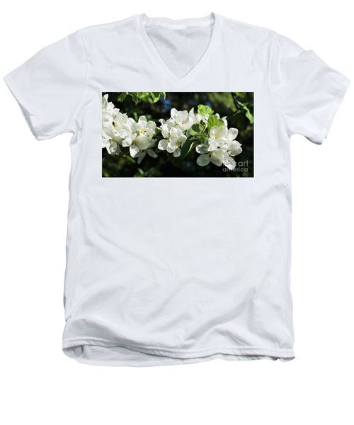 Apple Blossoms 2017 Men's V-Neck T-Shirt by Marjorie Imbeau