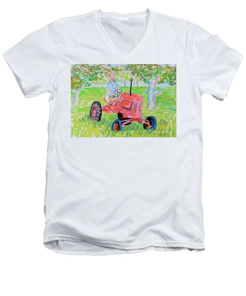 Apple Tree Farmer Sean Smith Men's V-Neck T-Shirt
