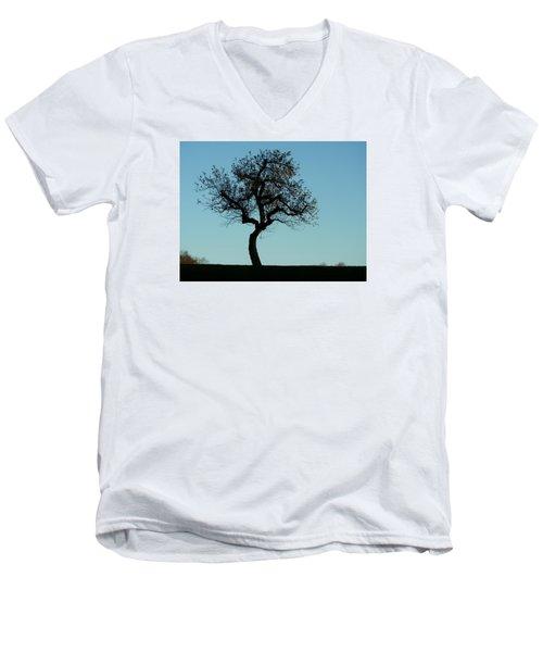 Apple Tree In November Men's V-Neck T-Shirt by Ernst Dittmar