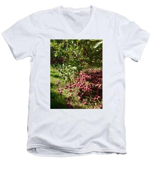 Apples...apples...everywhere Men's V-Neck T-Shirt by Jason Nicholas