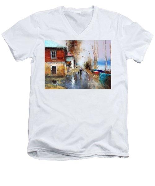 April. The River Volga Men's V-Neck T-Shirt
