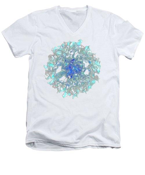 Aqua Art By Kaye Menner Men's V-Neck T-Shirt by Kaye Menner