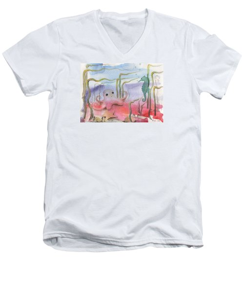 Aquatic Bliss Men's V-Neck T-Shirt