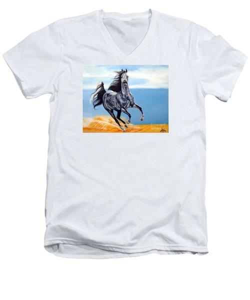 Arabian Dreams Men's V-Neck T-Shirt by Cheryl Poland