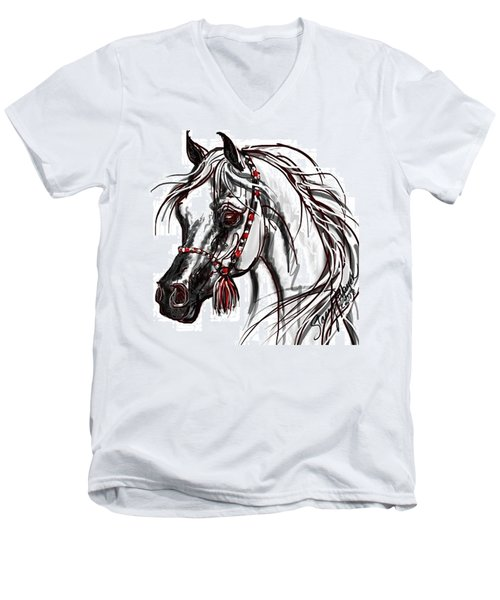 Arabian Horse Men's V-Neck T-Shirt