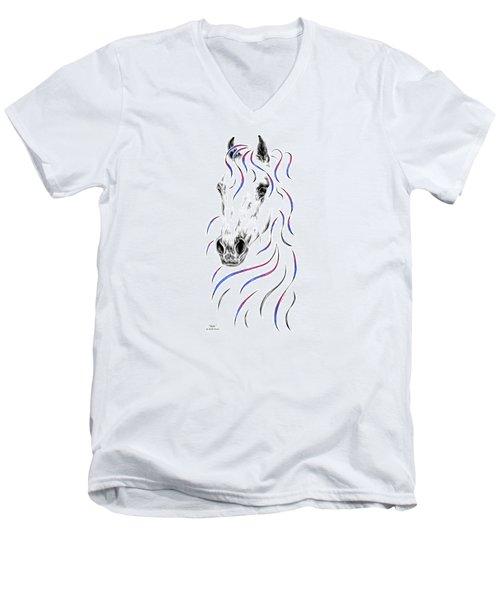 Arabian Horse Style Men's V-Neck T-Shirt by Kelli Swan