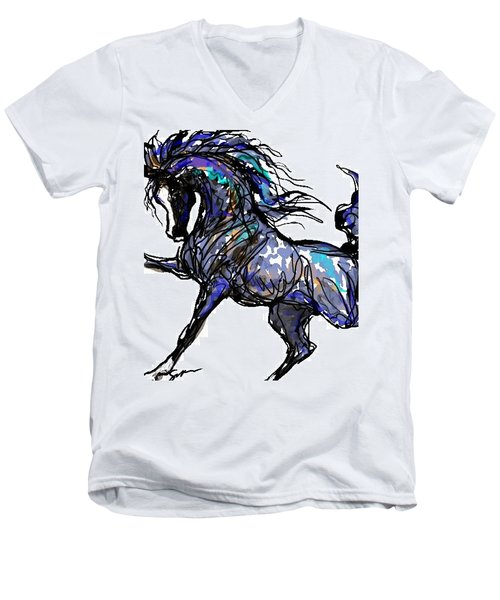 Arabian In Blue Men's V-Neck T-Shirt