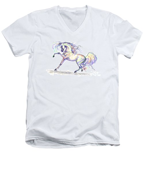 Arabian Stallion Talk Men's V-Neck T-Shirt