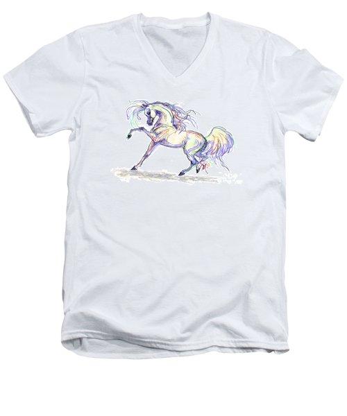 Arabian Stallion Talk Men's V-Neck T-Shirt