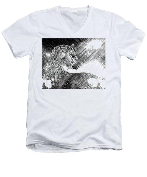Arabian Sunrise Sketch Men's V-Neck T-Shirt
