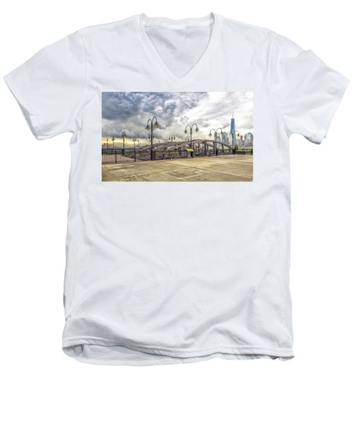Arc To Freedom One Tower Image Art Men's V-Neck T-Shirt