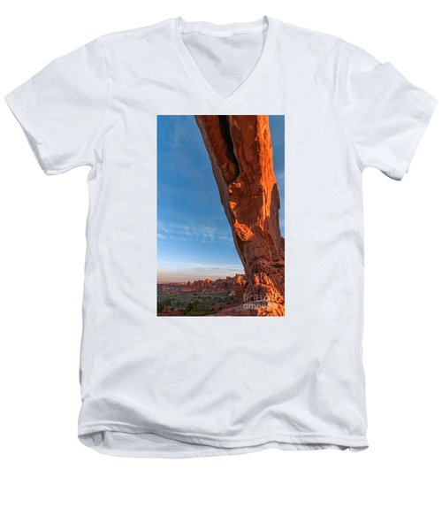Arch View Men's V-Neck T-Shirt by Sharon Seaward