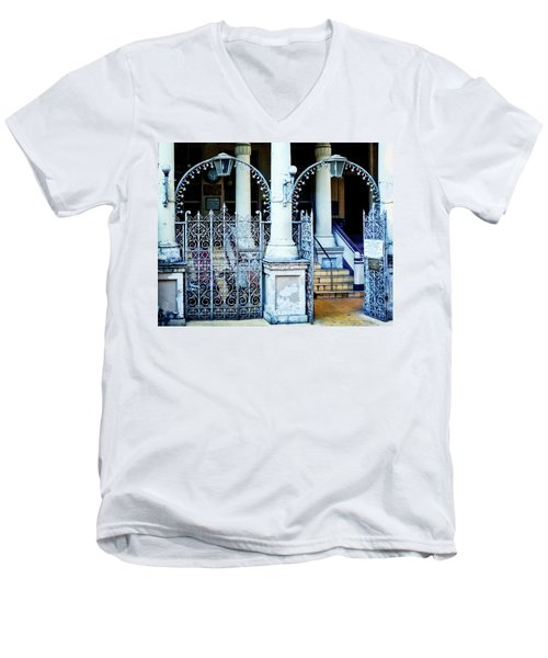 Arched Entrance In Mumbai Men's V-Neck T-Shirt by Marion McCristall