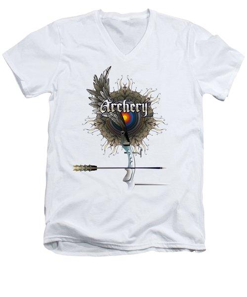 Archery Bow Wing Men's V-Neck T-Shirt