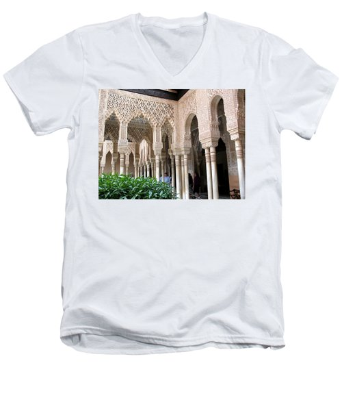 Arches And Columns Granada Men's V-Neck T-Shirt by Jacqi Elmslie
