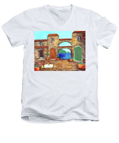Arches Of Amalfi  Men's V-Neck T-Shirt