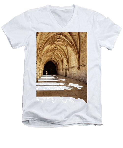 Arches Of Jeronimos Men's V-Neck T-Shirt by Marion McCristall