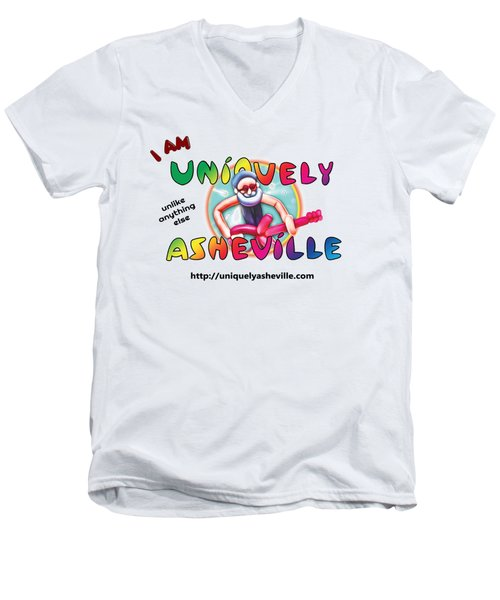 Are You Uniquely Asheville Men's V-Neck T-Shirt by John Haldane