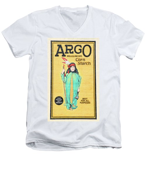 Argo Corn Starch Wall Advertising Men's V-Neck T-Shirt