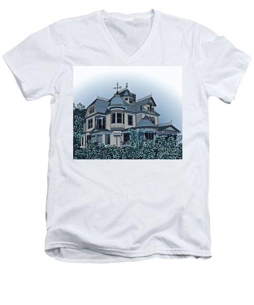 Aristocrat 2 Men's V-Neck T-Shirt by Megan Dirsa-DuBois