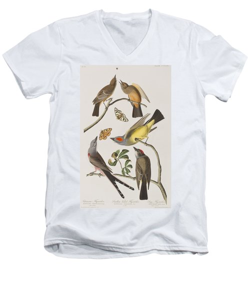 Arkansaw Flycatcher Swallow-tailed Flycatcher Says Flycatcher Men's V-Neck T-Shirt