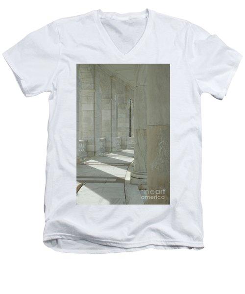 Arlington Memorial Amphitheater Hall Men's V-Neck T-Shirt