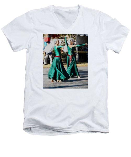 Armenian Dancers 10 Men's V-Neck T-Shirt