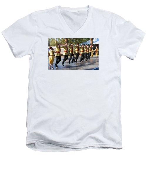 Armenian Dancers 3 Men's V-Neck T-Shirt