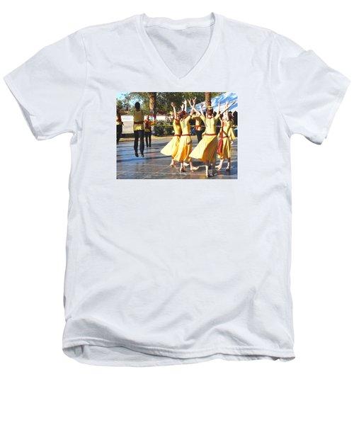 Armenian Dancers 4 Men's V-Neck T-Shirt