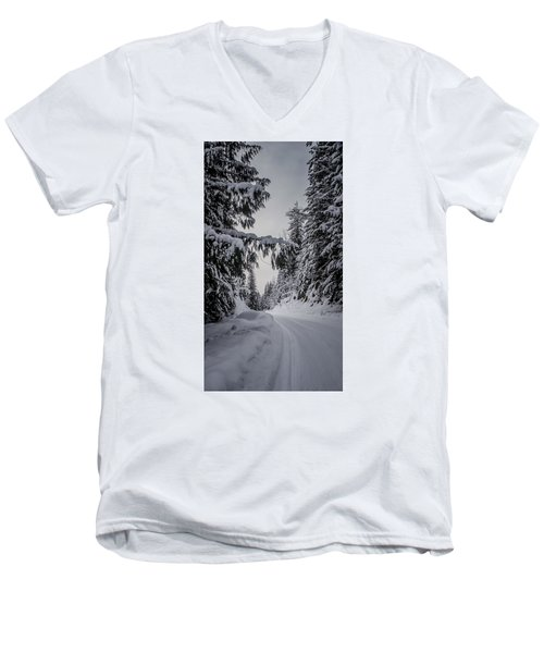 Around The Bend Men's V-Neck T-Shirt by Albert Seger