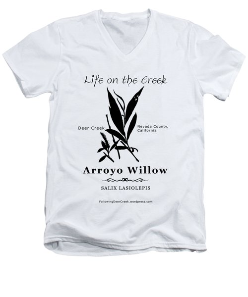 Arroyo Willow - Black Text Men's V-Neck T-Shirt