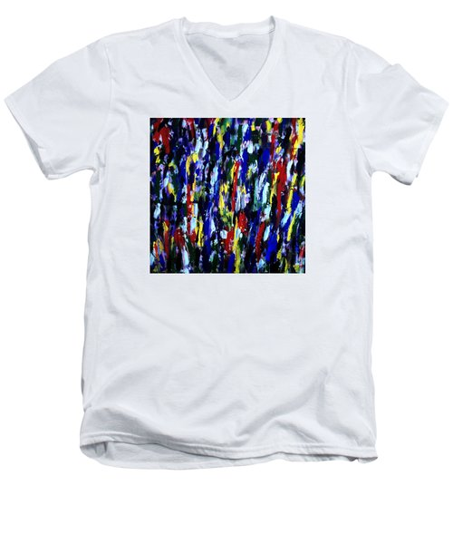 Art Abstract Painting Modern Color Men's V-Neck T-Shirt