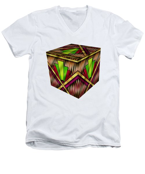 Art Deco 13 Cube Men's V-Neck T-Shirt