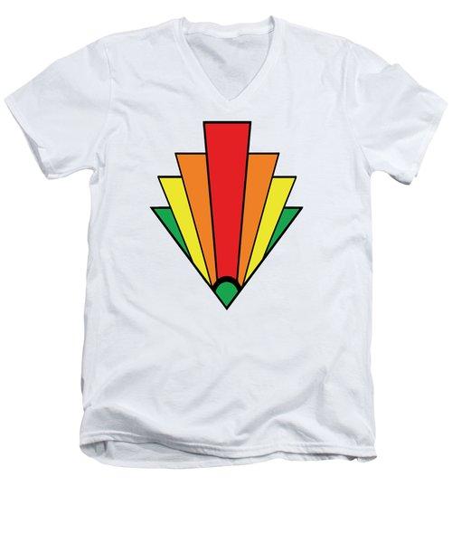 Art Deco Chevron Men's V-Neck T-Shirt