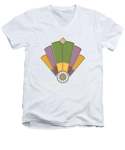 Art Deco Fan 2 Transparent Men's V-Neck T-Shirt