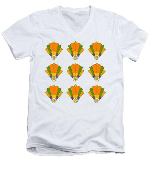 Art Deco Fan 8 Multiview Men's V-Neck T-Shirt