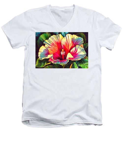Art Floral Interior Design On Canvas Men's V-Neck T-Shirt by Catherine Lott