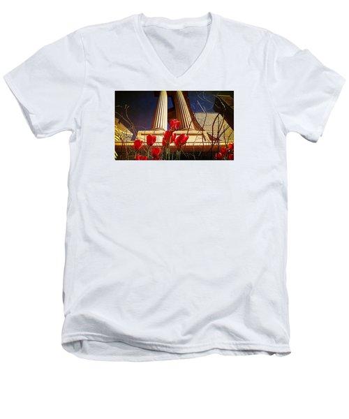 Art In The City Men's V-Neck T-Shirt
