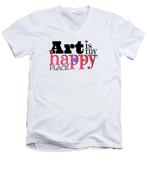 Art Is My Happy Place Men's V-Neck T-Shirt