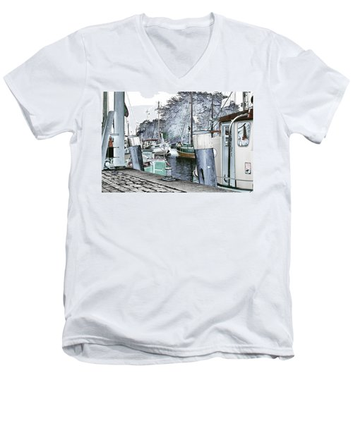 Art Print Boat 2 Men's V-Neck T-Shirt