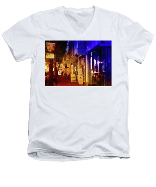 Art Row - Fredericksburg, Virginia Men's V-Neck T-Shirt by Glenn Gemmell