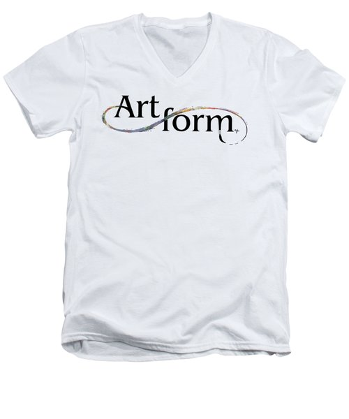 Men's V-Neck T-Shirt featuring the drawing Artform02 by Arthur Fix