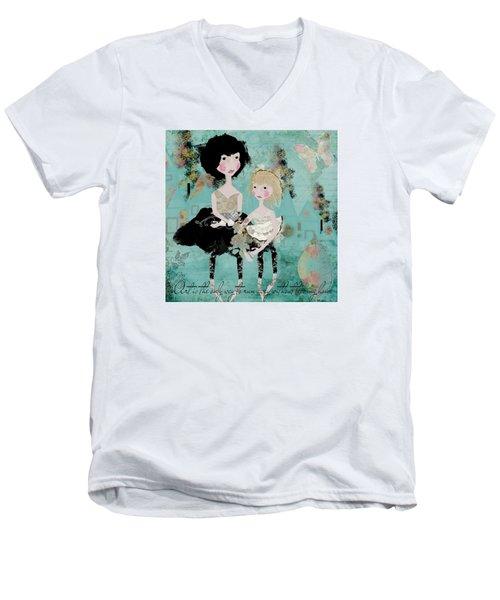 Artsy Girls Men's V-Neck T-Shirt