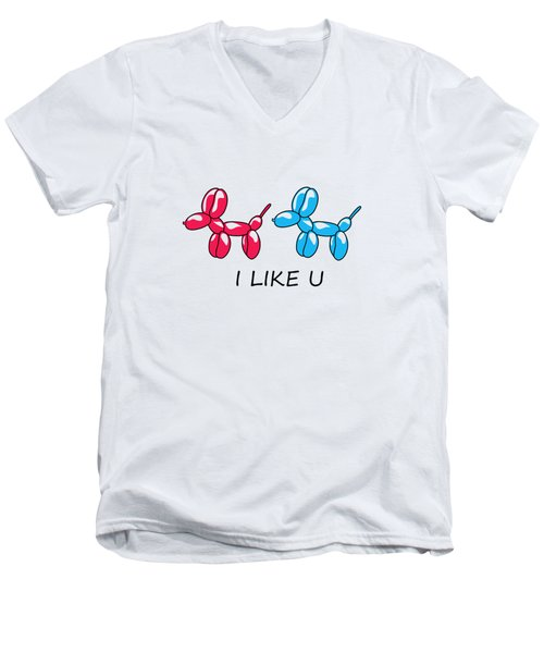 I Like You 2 Men's V-Neck T-Shirt
