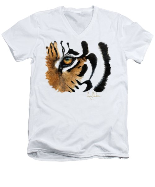 Tiger Eye Men's V-Neck T-Shirt