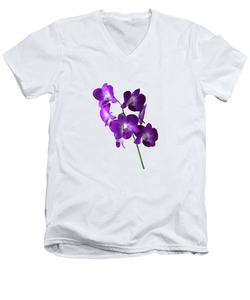 Floral Men's V-Neck T-Shirt by Tom Prendergast