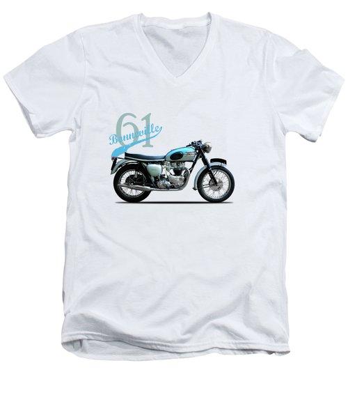 Triumph Bonneville Men's V-Neck T-Shirt by Mark Rogan