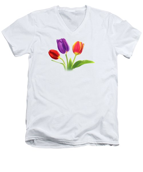 Tulip Trio Men's V-Neck T-Shirt