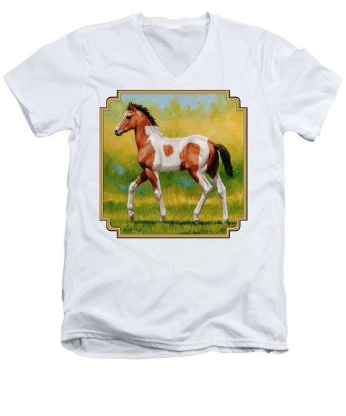 Bay Pinto Foal Men's V-Neck T-Shirt